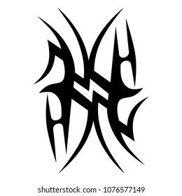 tribal tattoos pattern art deco ideas swirl designs – tribal tattoo pattern vector illustration