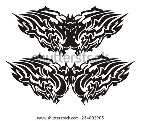 cf475bef4 Tribal Vector Bat Form Butterfly Stock Vector (Royalty Free ...