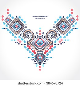 Tribal vector ethnic Mexican,  African ornament. Textile, Tattoo design