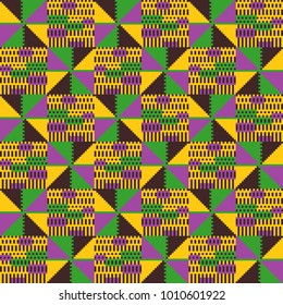 Tribal vector pattern. Imitation of African cloth Kent.