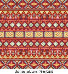 Tribal vintage ethnic seamless
