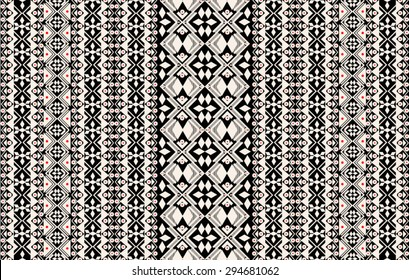 Tribal,ethnic pattern with geometric elements in vector.