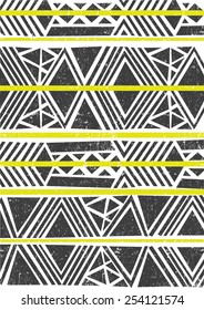 Tribal,ethnic pattern,background with geometric elements.