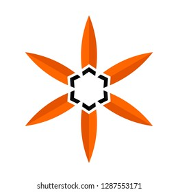 Tribe logo vector. Flower shape.