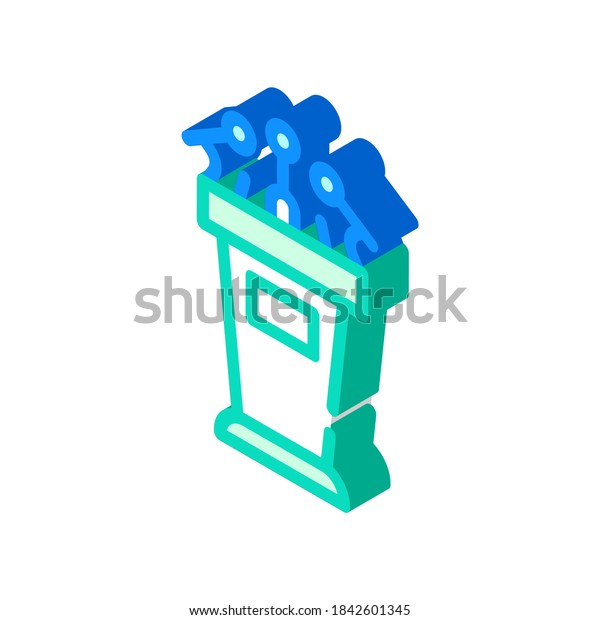tribune for interview isometric icon vector. tribune for interview sign. isolated symbol illustration