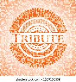 Tribute orange mosaic emblem