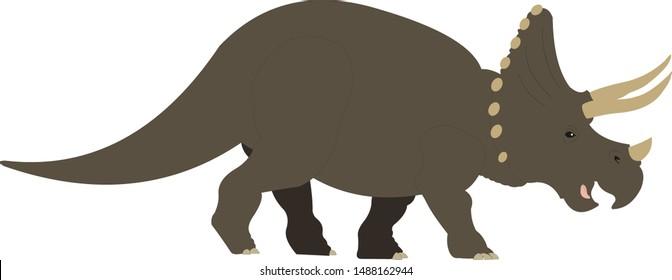 triceratops dinosaurus baby vector illustration Jurassic park