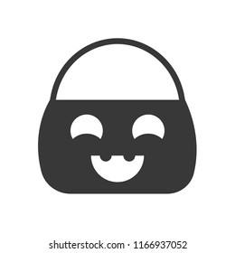 trick or treat bucket, Halloween related, glyph icon design
