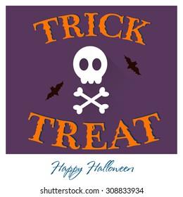 Trick or treat Halloween design.