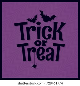 Trick or treat halloween lettering background