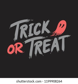 Trick or treat Halloween typography vector