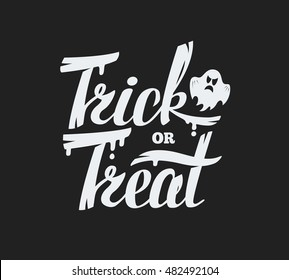 Trick or treat lettering design background