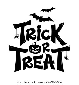 Trick or Treat lettering design isolate on white background