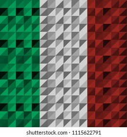 Tricolor Background, Red, Green, Light Gray, Abstract