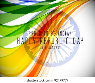 The tricolor of the Indian national flag