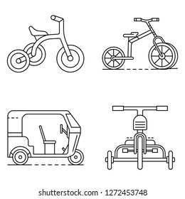 tricycle icon set outline vector 260nw 1272453748 royalty free tricycle design stock images, photos & vectors
