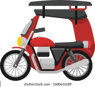 The tricycle is the most popular means of transport in small towns and cities, especially in the rural areas