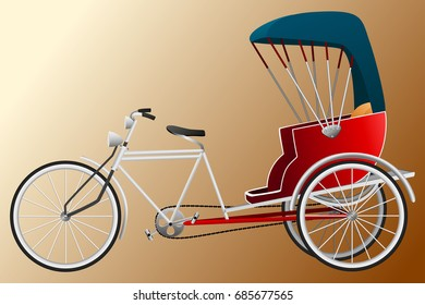 Tricycle Thai style graphic vector