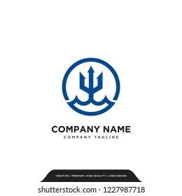 trident finance logo company vector