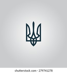 Trident. Flat web icon or sign isolated on grey background. Collection modern trend concept design style vector illustration symbol
