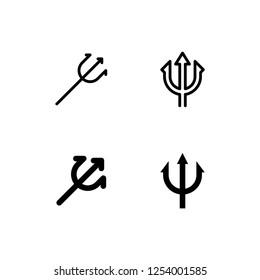Trident Icon Logo Vector Symbol. Pitchfork Icon