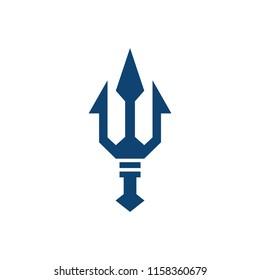trident logo design