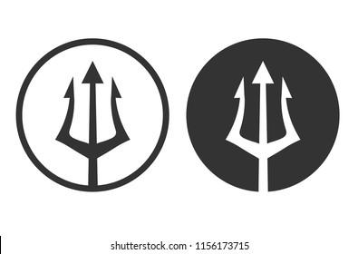 Trident logo design inspiration.Vector illustration