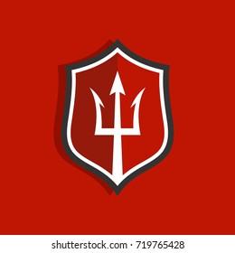 Trident logo design template