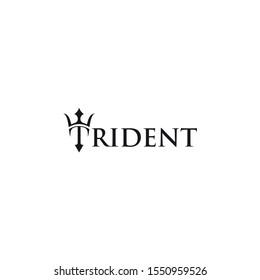 Trident Neptune  Poseidon icon  logo design