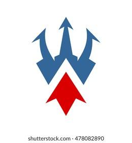 Trident Shield Energy Logo Design Template
