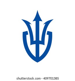 Trident and Shield Logo