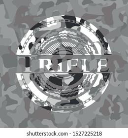 Trifle grey camo emblem. Vector Illustration.