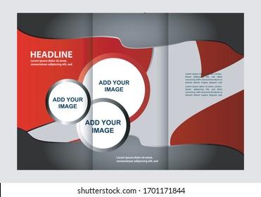 Tri-fold Brochure Beauty Salon and Catalog Vector