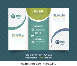 tri fold brochure design corporate leaflet cover stock vector
