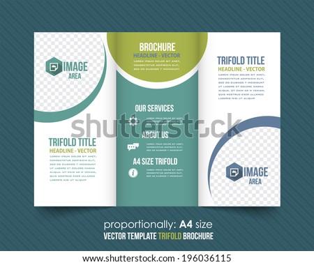 trifold brochure catalog vector design template stock vector