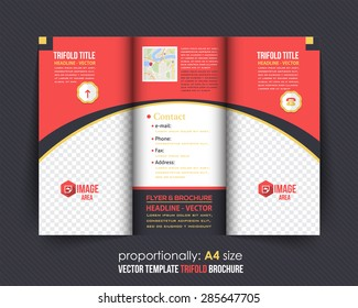 trifold brochure design catalog vector concept のベクター画像素材
