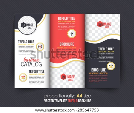 trifold brochure design catalog vector concept のベクター画像素材