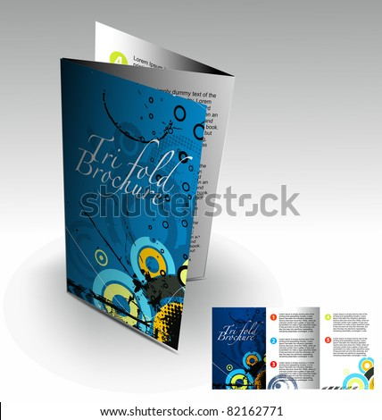 trifold brochure design element best used stock vector royalty free