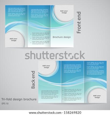 Trifold Brochure Design Brochure Template Design Stock Vector