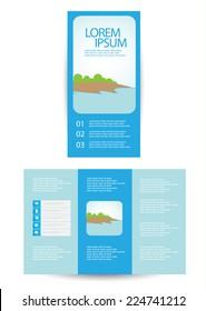 tri-fold brochure design. vector