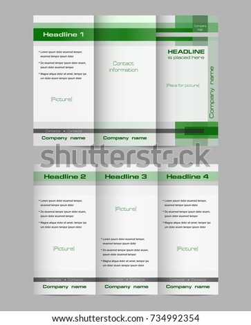 trifold brochure layout vector template both stock vector royalty