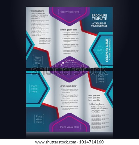 trifold brochure pamphlet flyer layout background stock vector