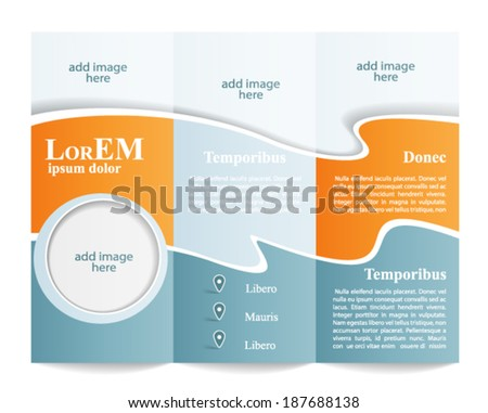 trifold brochure template stock vector royalty free 187688138