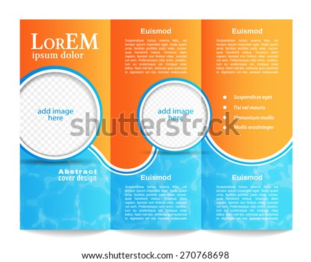 Trifold Brochure Template Stock Vector (Royalty Free