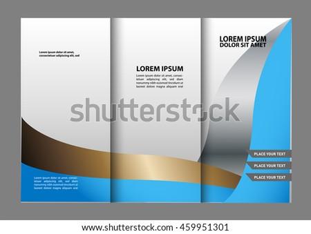 trifold brochure template design business leaflet stock vector