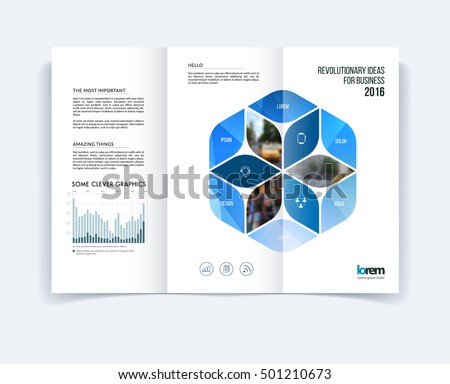 Trifold Brochure Template Layout Cover Design Stock Vector Royalty