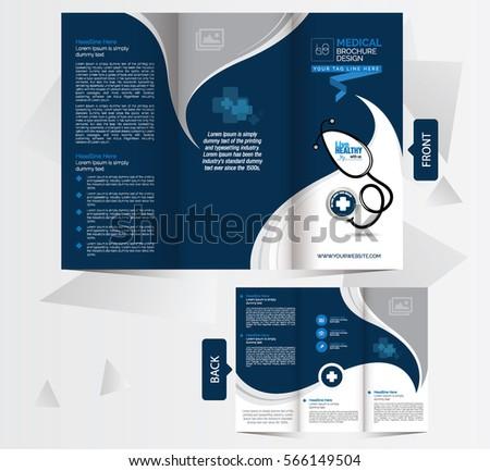 tri fold medical brochure design template front のベクター画像素材