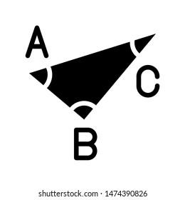 Trigonometry vector, Back to school solid design icon