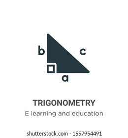 Trigonometry vector icon on white background. Flat vector trigonometry icon symbol sign from modern e learning and education collection for mobile concept and web apps design.