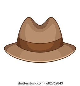 Trilby icon. Cartoon illustration of trilby vector icon for web design
